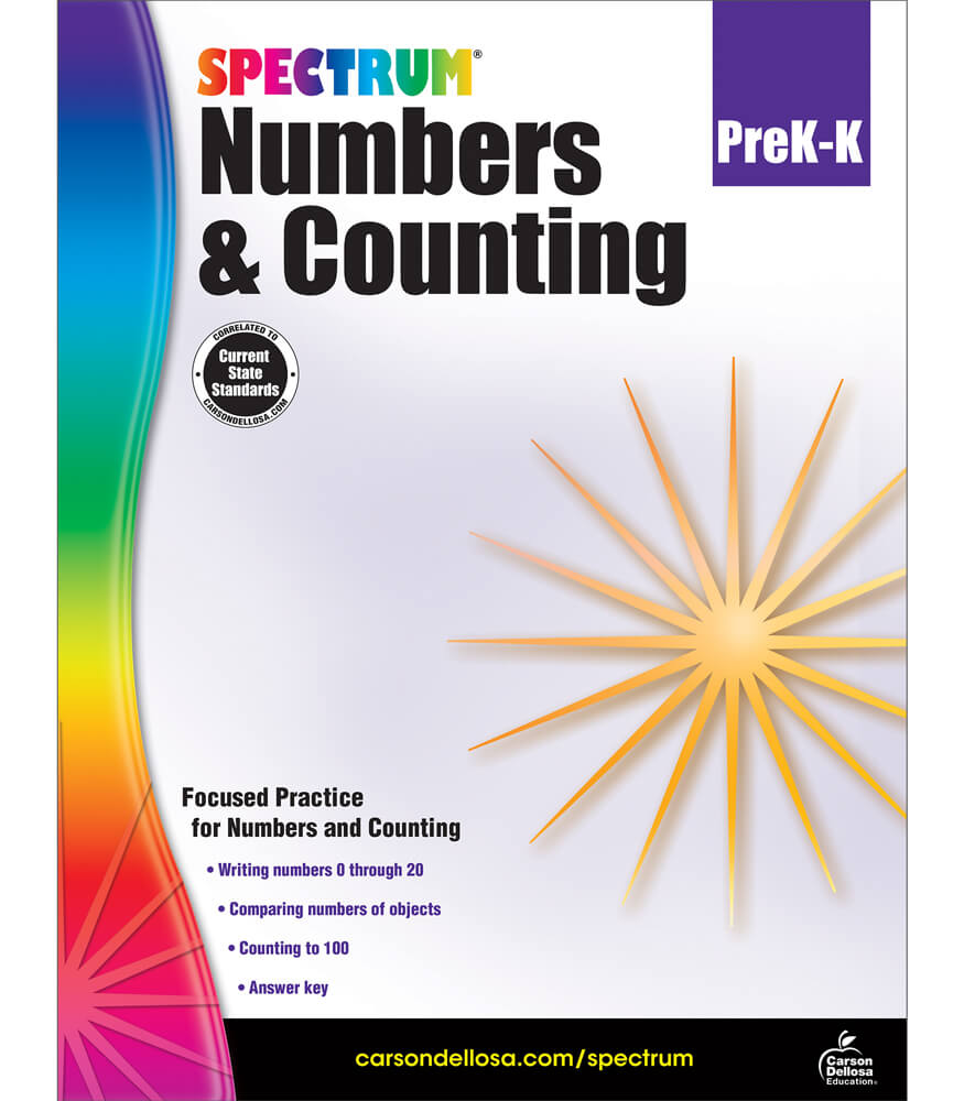 Spectrum Numbers & Counting Workbook Product Image
