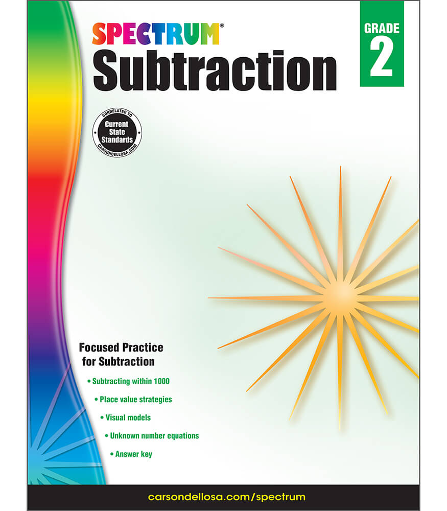 Spectrum Subtraction Workbook Product Image