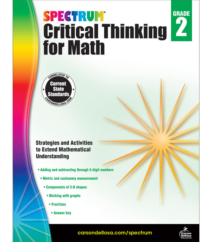 math worksheet : spectrum critical thinking for math workbook grade 2  carson  : Math Workbook