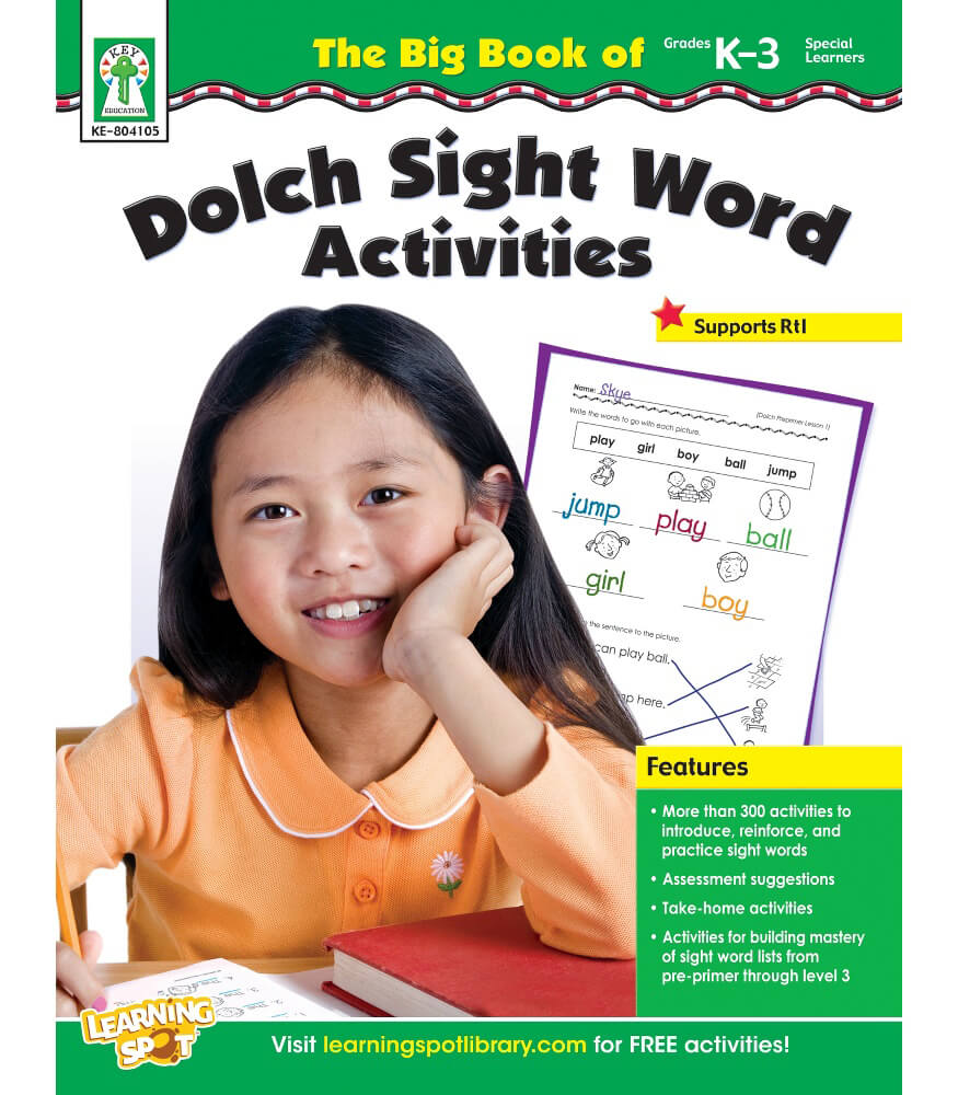 The Big Book of Dolch Sight Word Activities Resource Book Grade K ...