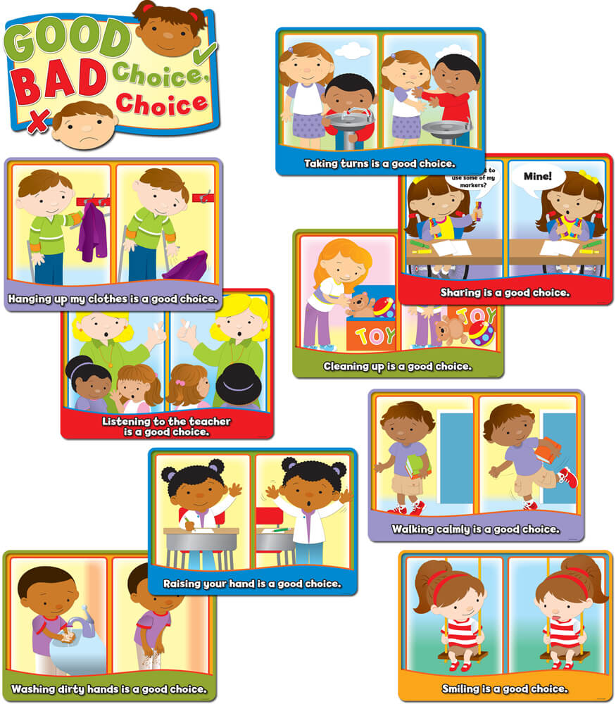 Good Choice, Bad Choice Bulletin Board Set Product Image