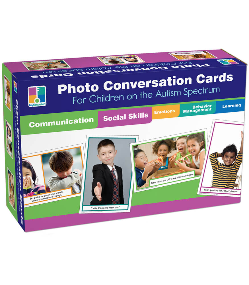 Photo Conversation Cards for Children with Autism and Asperger's Learning Cards