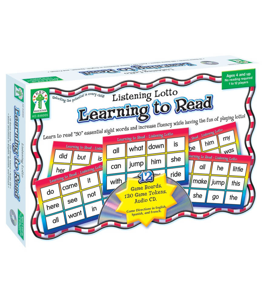 Worksheet Learning To Read Grade 1 listening lotto learning to read board game grade pk 1 carson game