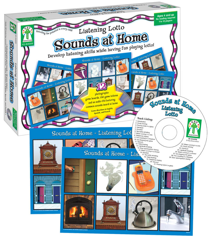 Listening Lotto: Sounds at Home Board Game