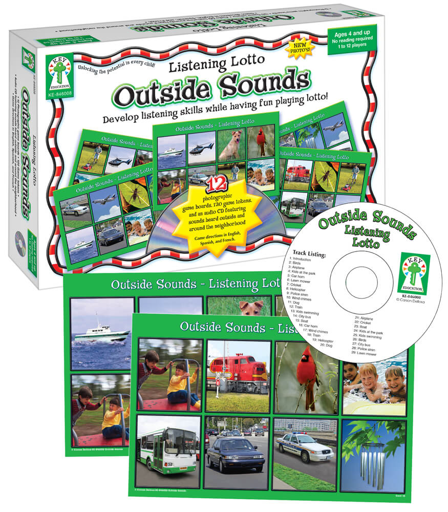 Listening Lotto: Outside Sounds Board Game Product Image