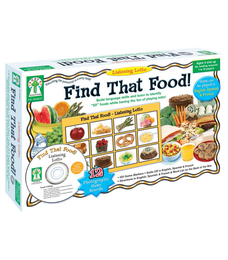 Listening Lotto: Find That Food! Board Game Product Image