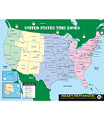 U.S. and World Maps with Time Zones Ready Reference Learning Cards Product Image