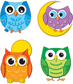 Colorful Owls Temporary Tattoos