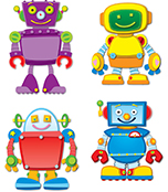 Robots Temporary Tattoos Product Image