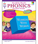 Month-by-Month Phonics for First Grade Resource Book