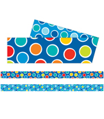 Bubbly Blues Straight Borders Product Image