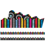 Colorful Chalkboard Scalloped Borders Product Image