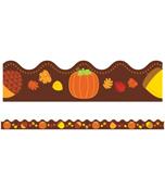 Acorns & Pumpkins Scalloped Borders Product Image