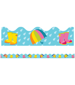 Spring Showers Scalloped Borders Product Image