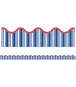 Nautical Stripe Scalloped Borders Product Image