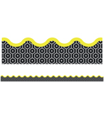 Hexagons Scalloped Borders Product Image