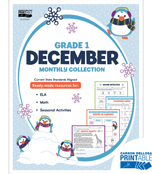 December Monthly Printable Collection Product Image