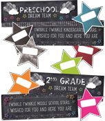 Twinkle Twinkle You're A Star! Door Decor Printable Bulletin Board Set Product Image