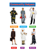 Photographic Community Helpers Bulletin Board Set