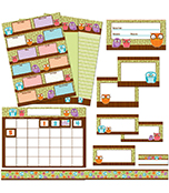 Owls Classroom Collection Bulletin Board Set
