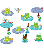 FUNky Frogs Job Assignment Bulletin Board Set