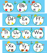FUNky Frogs Alphabet Bulletin Board Set