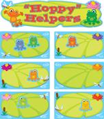FUNky Frogs Job Assignment Mini Bulletin Board Set