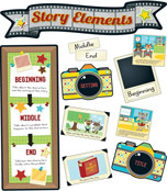 Hipster Story Elements Bulletin Board Set Product Image