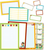Hipster Classroom Organizers Bulletin Board Set Product Image