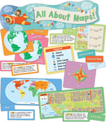 All About Maps Mini Bulletin Board Set Product Image