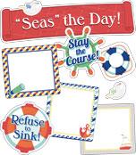 """Seas"" the Day! Mini Bulletin Board Set Product Image"