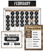 Industrial Chic Calendar Bulletin Board Set Product Image