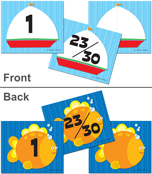 Sailboat/Fish Calendar Cover-up Cut-Outs Product Image