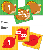 Turkey/Leaf Calendar Cover-up Cut-Outs Product Image