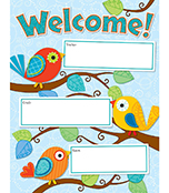 Boho Birds Welcome Chart