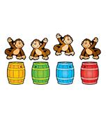 Monkeys & Barrels Cut-Outs
