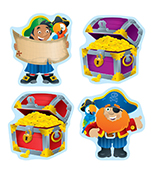 Pirates & Treasure Chests Cut-Outs