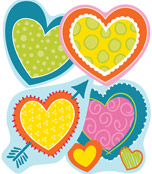 Hearts Cut-Outs Product Image