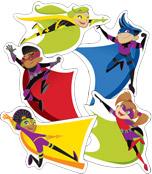Super Power Super Kids Cut-Outs Product Image