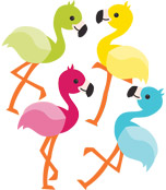 School Pop Flamingos Mini Cut-Outs Product Image