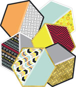 Hexagons Cut-Outs Product Image