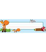 Playful Foxes Nameplates Product Image
