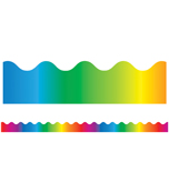 Rainbow Scalloped Borders