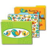 Boho Birds File Folders