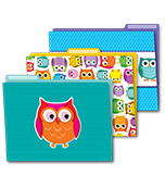Colorful Owls File Folders Product Image
