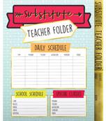 Substitute Teacher Folder Folder Product Image