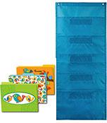 Boho Birds File Folders and Teal Pocket Chart Organization Set Product Image