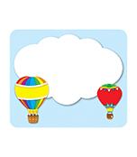 Hot Air Balloons Name Tags