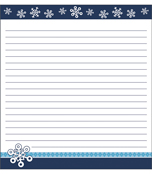 Snowflakes Notepad Product Image