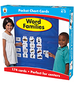 Word Families Pocket Chart Cards Product Image